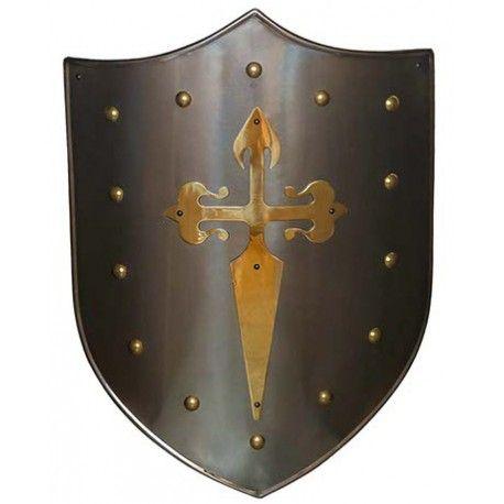 Escudo Cruz Santiaguista Latón