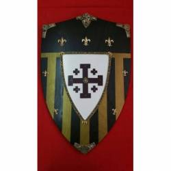 875 Escudo de madera Cruzados