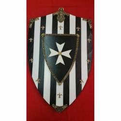 877 Escudo de madera Hospitalarios