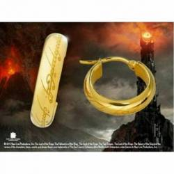 Pendientes dorados anillo unico