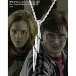 Colgante rayo plata Harry Potter