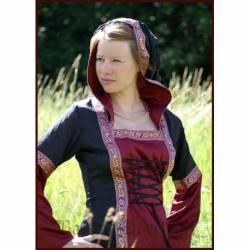 1236311110 Vestido medieval Cecilia con capucha