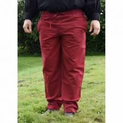 1202307550 Pantalon medieval en algodon, rojo