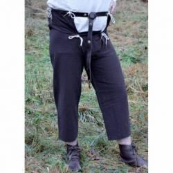 ULF-CL-14BR Pantalon medieval con rayas, marron oscuro