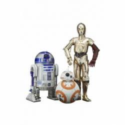 KTOSW114 Pack 3 figuras C3PO, R2D2 y BB-8 de 7 a 17 cm Star Wars