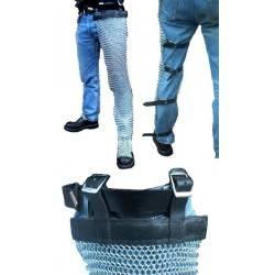 0501037110 Par de polainas o protectores de piernas cota de malla