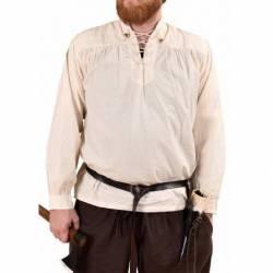 1280000330 Camisa medieval Ludwig, natural