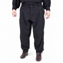 1202306300 Pantalones con pinzas, negro