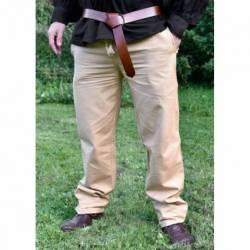 1202307530 Pantalon medieval en algodon, marron claro