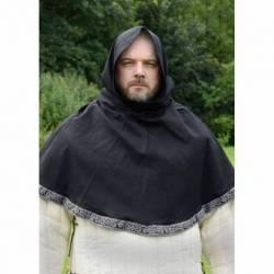 1236144800 Capucha medieval de algodon / lino