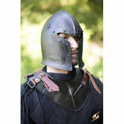 200214 Protector de cuello dragon negro