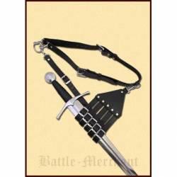 0101050400 Cinturon con soporte para espadas, sables y espadas