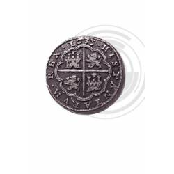 72 Moneda medieval 8 Reales de Plata (Pieza de ocho) Felipe IV 1635