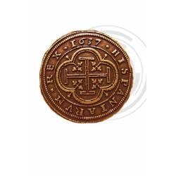 73 Moneda medieval 100 Escudos de Oro Felipe IV 1637