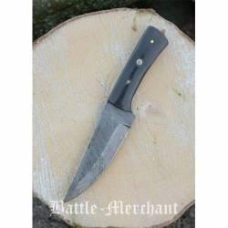 Cuchillo de acero de Damasco con empunadura de cuerno, aprox. 23 cm 0369381024