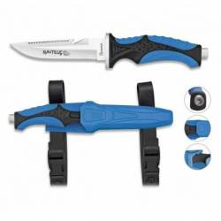 Cuchillo Submarinismo Azul NAUTILUS.11.5