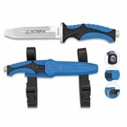 Cuchillo Submarinismo Azul OCTOPUS. 11.5