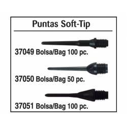 Puntas Soft-Tip. Negro.1/4.Bolsa 50 pz
