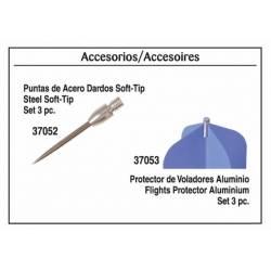 Puntas ACERO para dardos SOFT-TIP. 3 pz