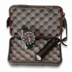 Set: Caja + Reloj Negro + linterna 12177