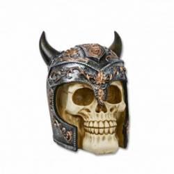 Calavera casco vikingo Resina 14 cm
