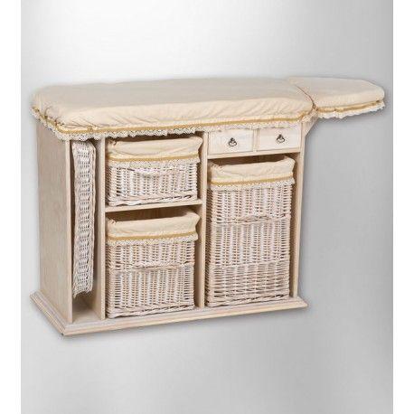 Mueble de plancha mimbre