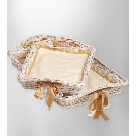 Bandeja rectangular para regalos mimbre