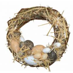 Corona retama y huevos