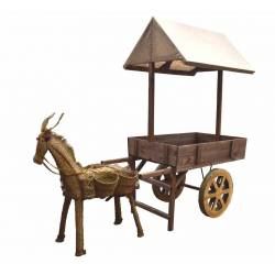 Carro repartidor con burro