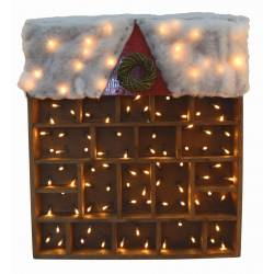 Expositor madera con luz