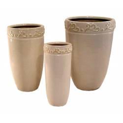 Set de 3 floreros cerámica