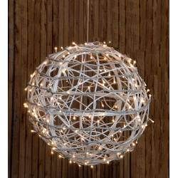 Bola blanca con luz clear