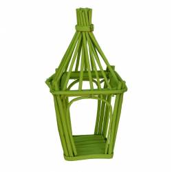 Jaula cuadrada verde